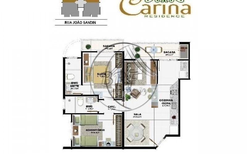 Carina Residence - Planta Apto 1e2(P)