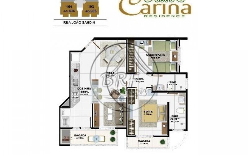 Carina Residence - Planta Apto 3e4(P)