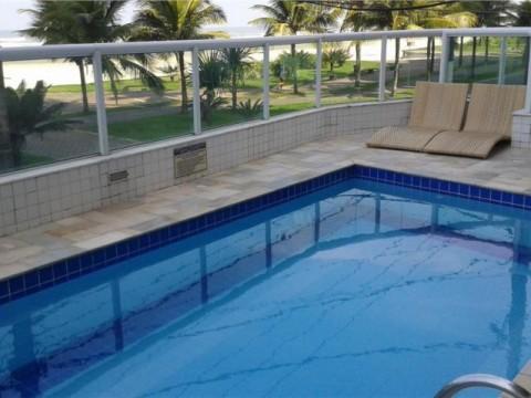 Apartamento  residencial à venda, vista para o Mar Balneário Maracanã, Praia Grande.