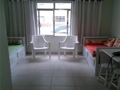 Kitnet  residencial à venda frente para o mar, Vila Caiçara, Praia Grande.