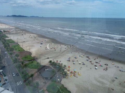 Apartamento Frente ao Mar de 2 Dormitórios com Suíte na Vila Caiçara, Praia Grande - SP