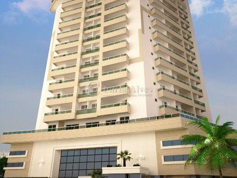 Apartamento NOVO na Vila Caiçara de 1 Dormitório com Sacada Gourmet