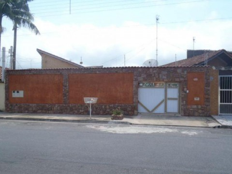 Casa residencial à venda, Vila Caiçara, Praia Grande - CA1898.