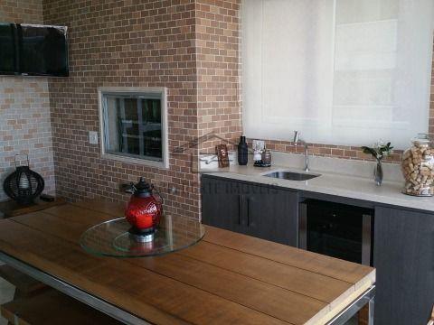 AP196 - Apartamento Mobiliado 222m2 - 4 Dorms - 4 Suítes - 5 Vagas - 6 Wc