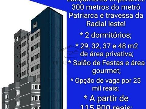 Apartamento na Planta para Venda Próximo a Estação Patriarca.