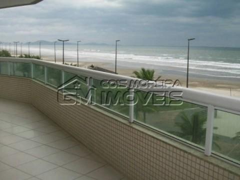 Frente total para o mar - sacada gourmet - 2 dormitórios - suíte - Caiçara - Praia Grande.