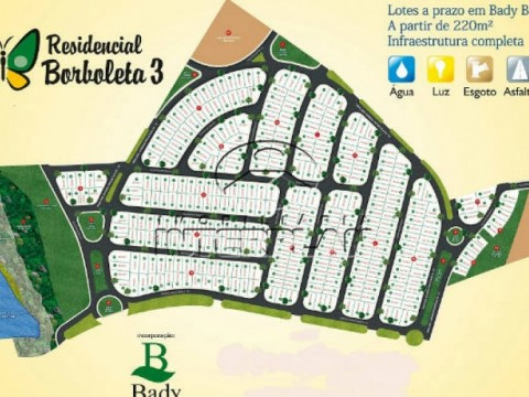 Terreno Residencial Bady Bassitt SP Bairro Res. Borboleta III