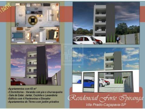 Apartamento em Cond. Residencial Forte Ipiranga - Caçapava