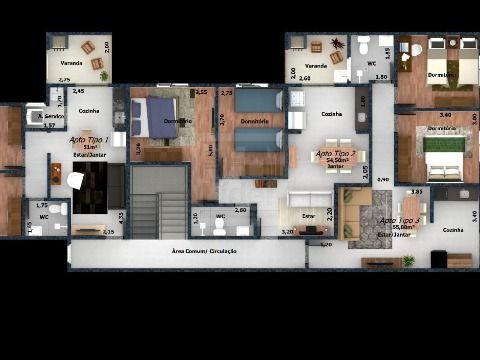 Apartamento em Jardim Rafael - Caçapava