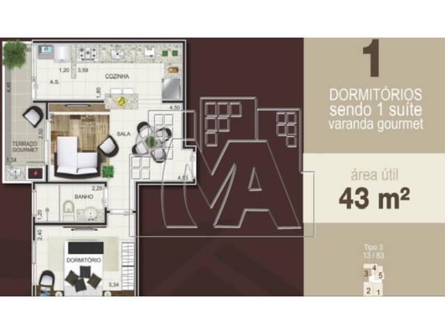 04 - PLANTAS DE 1 DORMITÓRIO