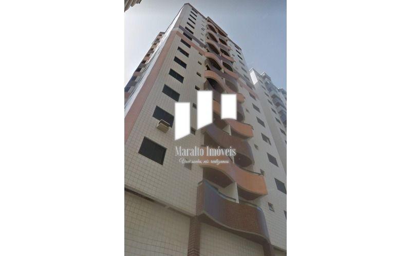 Apartamento de 64m²Vista lateral para mar aceita financiamento Bancário, Ocean. Praia Grande S/P.