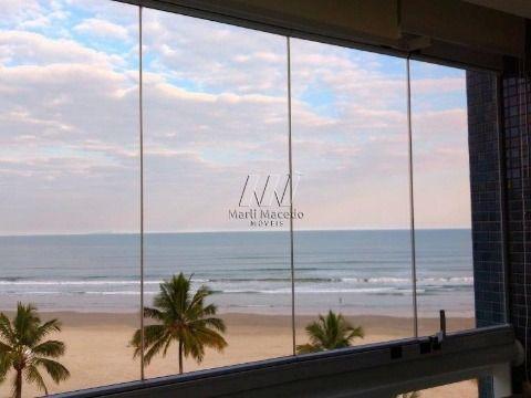 Conforto para toda família, apartamento pé na areia, belissima vista para o mar