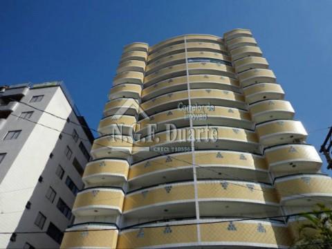Apartamento em Praia Grande no Ocian com 3 dormitórios