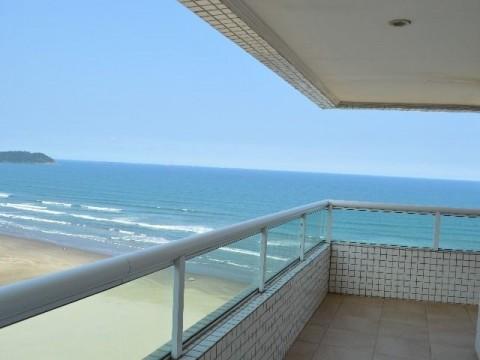 Apartamento frente para o mar na Aviação Praia Grande