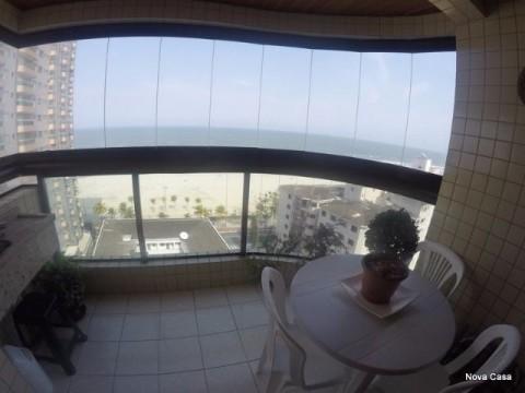 Apartamento 02 dormitórios 01 suíte vista total do mar - Praia Grande