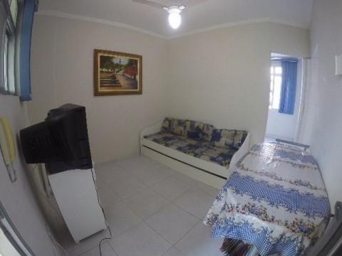 Apartamento dividido em um dormitório na Guilhermina Praia Grande