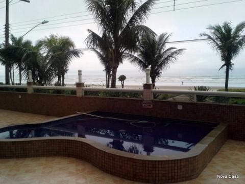 Apartamento em Praia Grande 3 dormitórios com sada de frente para o mar