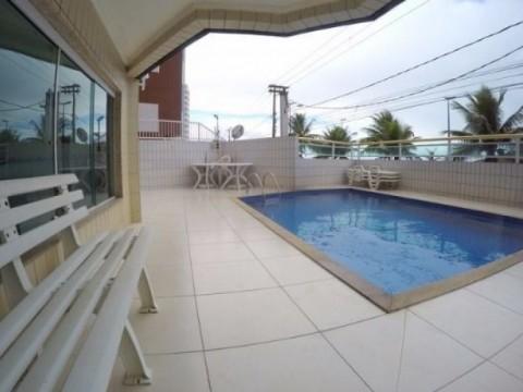 Apartamento em Praia Grande 2 dormitórios com sacada de frente para o mar