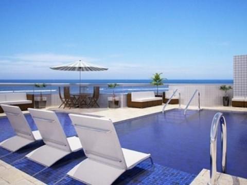 Lindo apartamento novo  em frente a praia com 3 dormitorios