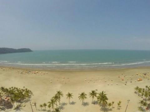 Apartamento com vista para o mar em Praia Grande