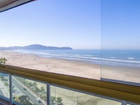 Oportunidade apartamento frente para o mar na Praia Grande