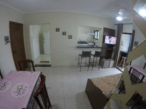 APARTAMENTO DE 01 DORMITÓRIO, COM 70 M², SACADA GOURMET,GUILHERMINA - PRAIA GRANDE