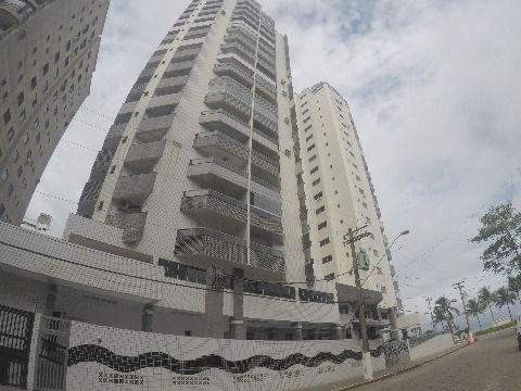 Apartamento três dormitórios frente a Praia no bairro da Aviação em Praia Grande