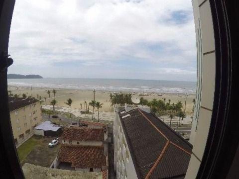 Apartamento com 02 dormitórios, vista para o mar na Guilhermina em Praia Grande SP
