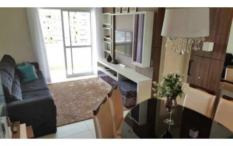 Apartamento semi mobiliado 3 dormitórios 2 vagas andar alto vista para o mar e sacada com churrasqueira