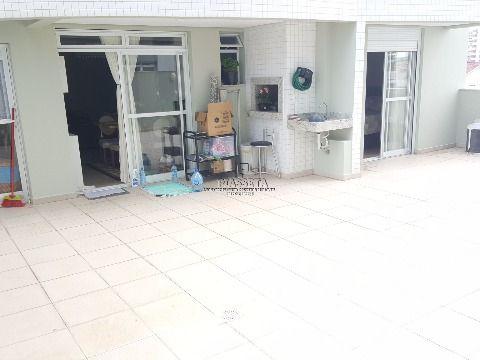 Apartamento novo semi mobiliado 2 dormitórios com terraço no balneário do estreito
