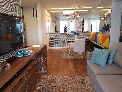 Apartamento luxuoso, totalmente mobiliado, pronto para morar 3 dormitórios 2 vagas no Pagani, Palhoça.