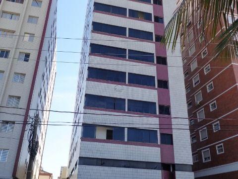 Apartamento 1 dormitório p/ alugar na Guilhermina Prédio à Beira Mar