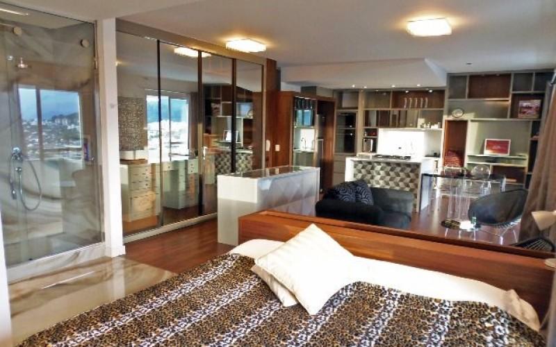 Spazio Uno Studios - Apto 1 Dorm, Itacorubi, Florianópolis (AP772)