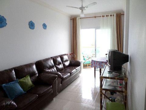 Apartamento 2 dormitórios  de frente  pro mar em Praia Grande - Vila Caiçara
