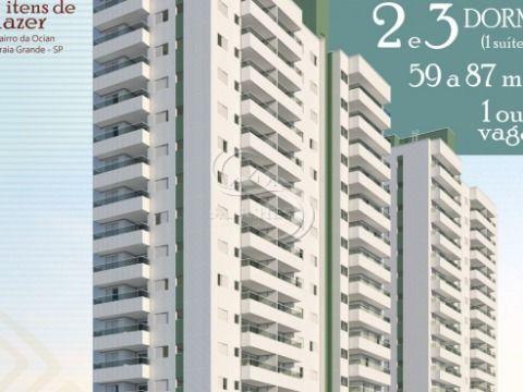 Apartamento 2 dormitórios na Ocian