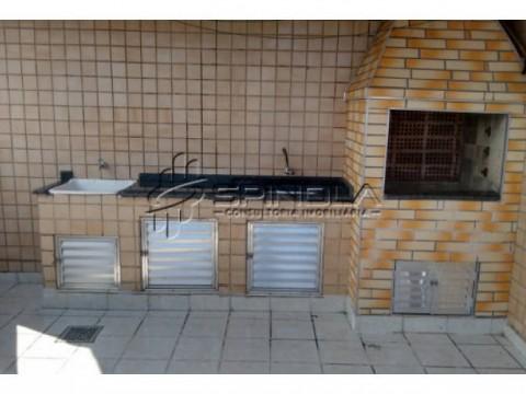 Cobertura duplex com 2 suítes e espaço gourmet na Vila Caiçara - Praia Grande