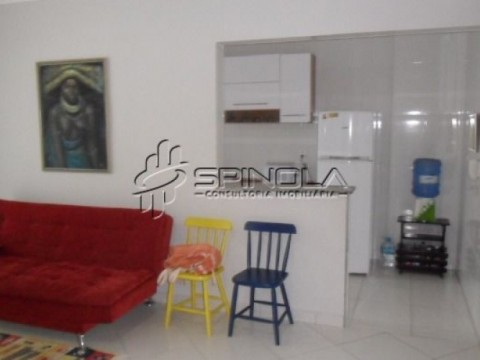 Apartamento de 1 dormitório à venda na Vila Caiçara - Praia Grande