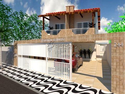 Linda casa com 2 dormitórios em condomínio fechado na Vila Caiçara