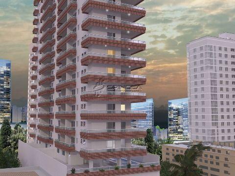 Apartamento de um dormitório Vila Caiçara - Praia Grande