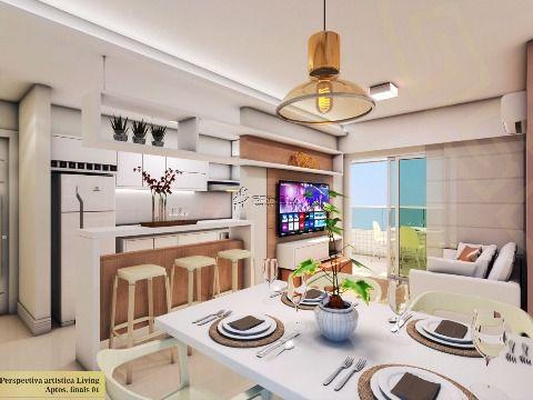Lindo apartamento com 3 dormitórios no Cidade Ocian em Praia Grande