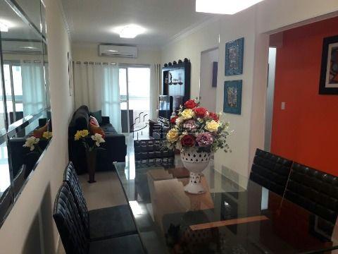 Apartamento de 3 dormitórios com suíte e varanda gourmet - Vila Guilhermina, Praia Grande