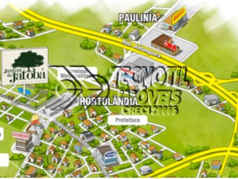 Casa Térrea - Condomínio Residencial Jardim do Jatobá / Hortolândia - SP - Estuda Troca