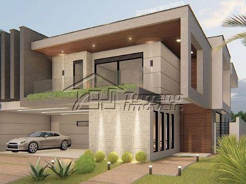 Casa nova no Jardim do Golfe com 4 suítes e área gourmet completa